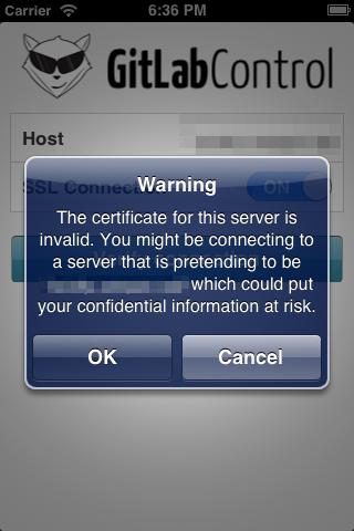 Invalid SSL Certificate